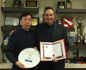 Επίσκεψη από τον Πρόεδρο της Society of Eminent Chefs in China WEI TIAN